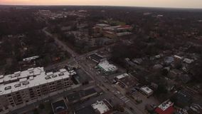 Urban Blended Neighborhood, Industrial Areas and Streets of North Raleigh,NC. Aerial Video and close ups of downtown North Raleigh, North Carolina, Urban stock footage