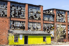 Urban Blight - Old Abandoned Railroad Factory I. Urban Blight - Old Abandoned Railroad Factory Royalty Free Stock Photos