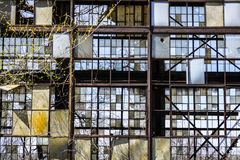 Urban Blight - Old Abandoned Railroad Factory III Stock Images