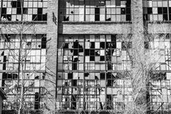 Urban Blight - Old Abandoned Railroad Factory VI Stock Photo