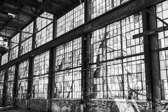 Urban Blight - Old Abandoned Railroad Factory VII Royalty Free Stock Images