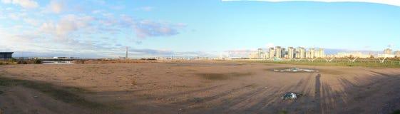 Panorama urban blocks high-rise buildings on the beach Royalty Free Stock Image