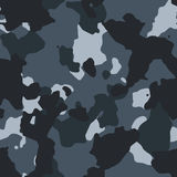 Urban blue seamless camo pattern. Texture Royalty Free Stock Photo