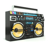 Urban boombox tape recorder 80s. Isolated on white background 3d royalty free illustration