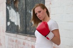 Urban Boxing Girl Stock Photos