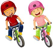 Urban Boys Riding Bicycle on White Background. Illustration vector illustration