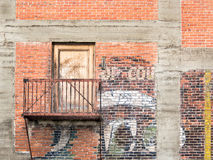 Urban brick wall Royalty Free Stock Photo