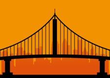 Urban bridge. Royalty Free Stock Photo