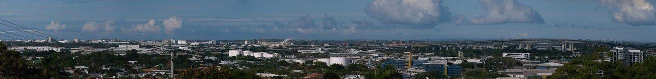 Urban Brisbane panorama Royaltyfri Fotografi