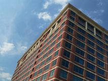 Urban building. Tall building, angled perspective Royalty Free Stock Image