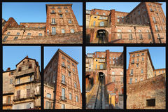 Urban building. Collage photos, Urban building in turin italy with landscape in the city Stock Photography