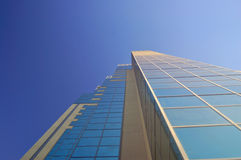Urban building. Modern office building wall and windows Royalty Free Stock Image