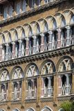 Urban building, facade pattern background. Mumbai, India . Close up Royalty Free Stock Image