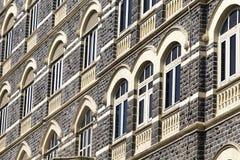 Urban building, facade pattern. Mumbai, India. Close up Stock Photo