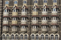 Urban building, facade pattern. Mumbai, India Royalty Free Stock Images