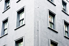 Urban building. Part of the exterior of a plain London building Royalty Free Stock Photo