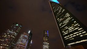 Urban building,shanghai pudong economic center landmarks at night. stock video footage