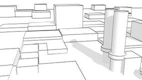 Urban building sketch Royalty Free Stock Image
