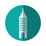 Urban building tower. Vecotr illustration graphic design Royalty Free Stock Photos