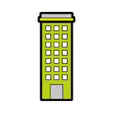 Urban building tower. Vecotr illustration graphic design Royalty Free Stock Photo