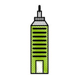 Urban building tower. Vecotr illustration graphic design Stock Image