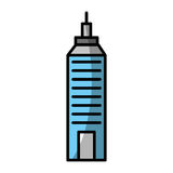 Urban building tower. Vector illustration graphic design Stock Images