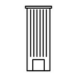 Urban building tower. Vector illustration graphic design Royalty Free Stock Images