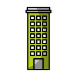 Urban building tower. Vector illustration graphic design Royalty Free Stock Photography