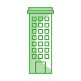 Urban building tower. Vector illustration graphic design Stock Image