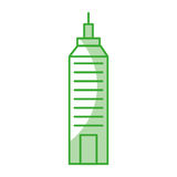 Urban building tower. Vector illustration graphic design Royalty Free Stock Image