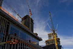 Urban building under construction Stock Images