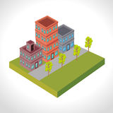 Urban buildings graphic. Design,  illustration eps10 Stock Image