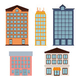 Urban buildings icons Royalty Free Stock Photography