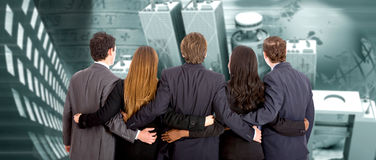 Urban business partners Stock Images