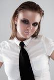 Urban Business woman wearing tie stock photos