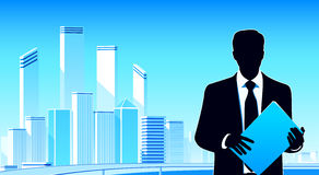 Urban businessman Stock Image