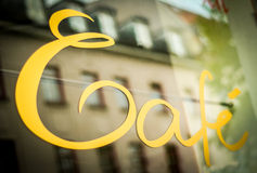 Urban Cafe Sign stock images