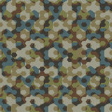 Urban camouflage geometric hexagon seamless pattern Royalty Free Stock Photography