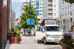 Urban camping Stock Photos