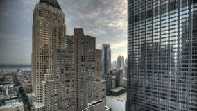 Urban Canyon HDR Timelapse stock video