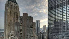 Urban Canyon HDR Timelapse. HDR Timelapse Urban Canyon New York City stock video