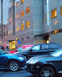 Urban car parking Stock Photography