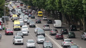 Urban Car Traffic on the Highway stock footage