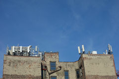 Urban Cell Phone Antennas Royalty Free Stock Images