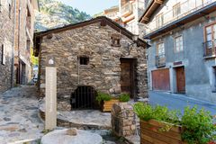 the urban center of Canillo, Andorra royalty free stock image