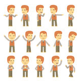 Urban character set in different poses. simple Royalty Free Stock Photo