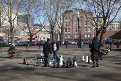 Urban chess royalty free stock photo