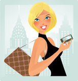 Urban chic-blond Stock Images