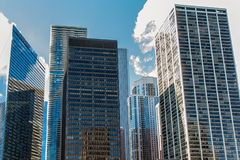 Urban Chicago Skyscaper Landscape Royalty Free Stock Image