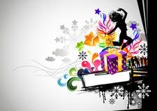 Urban Christmas Party royalty free illustration